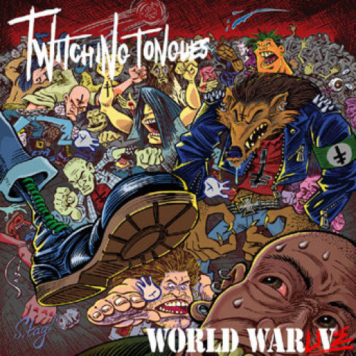 "CLCR035 Twitching Tongues ""World War Live"" LP/CD Album Artwork"