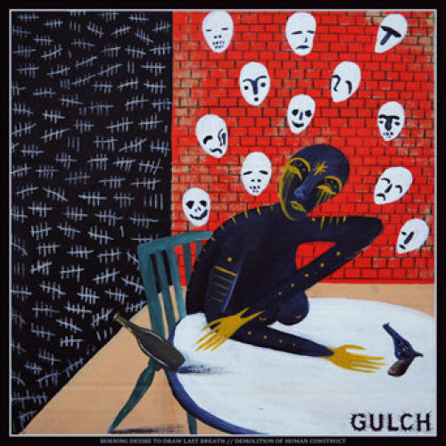 "CRDR056-1 Gulch ""Burning Desire To Draw Last Breath//Demolition Of Human Construct"" 10"" Album Artwork"