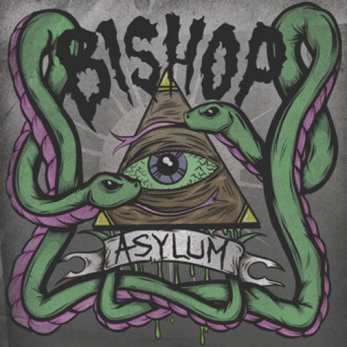 "DETR009-1 Bishop ""Asylum"" 7"" Album Artwork"