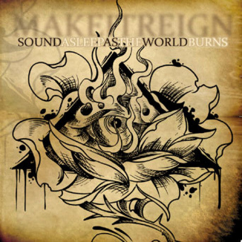 "DETR012-2 Make It Reign ""Sound Asleep As The World Burns"" CD Album Artwork"