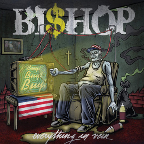 "DETR017-2 Bishop ""Everything In Vein"" CD Album Artwork"
