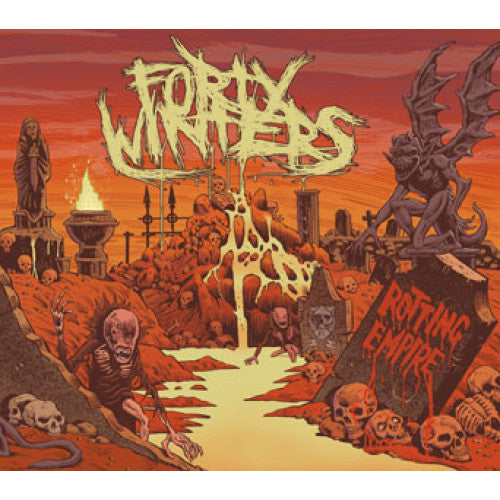 "DETR021-2 Forty Winters ""Rotting Empire"" CD Album Artwork"