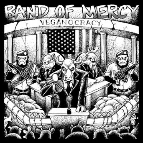 "DETR022-1/2 Band Of Mercy ""Veganocracy"" 7""/CD Album Artwork"