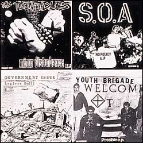 "DIS014-2 V/A ""Dischord 1981: The Year In Seven Inches"" CD Album Artwork"