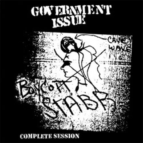 "DIS166-1 Government Issue ""Boycott Stabb Complete Session"" LP Album Artwork"