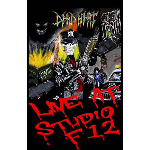 "EDWT01A-4 Dead Heat ""Live At Studio F12"" Cassette Album Artwork"