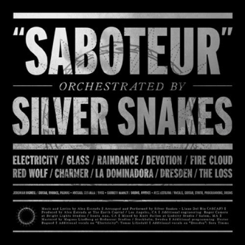 "EI302-1 Silver Snakes ""Saboteur"" LP Album Artwork"