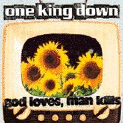 "EVR048-2 One King Down ""God Loves, Man Kills"" CD Album Artwork"