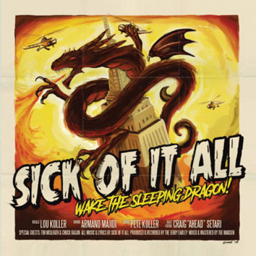 "FAT111 Sick Of It All ""Wake The Sleeping Dragon!"" LP/CD Album Artwork"
