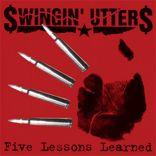 "FAT574-1 Swingin' Utters ""Five Lessons Learned"" LP Album Artwork"