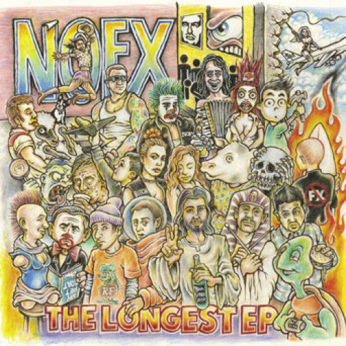 "FAT758-1 NOFX ""The Longest EP"" 2XLP Album Artwork"