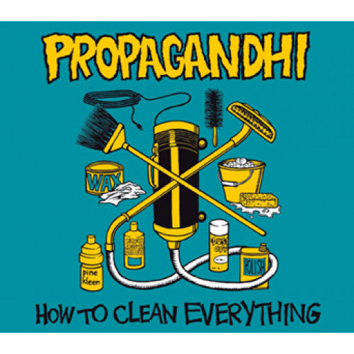 "FAT911 Propagandhi ""How To Clean Everything: 20th Anniversary Edition"" LP/CD Album Artwork"