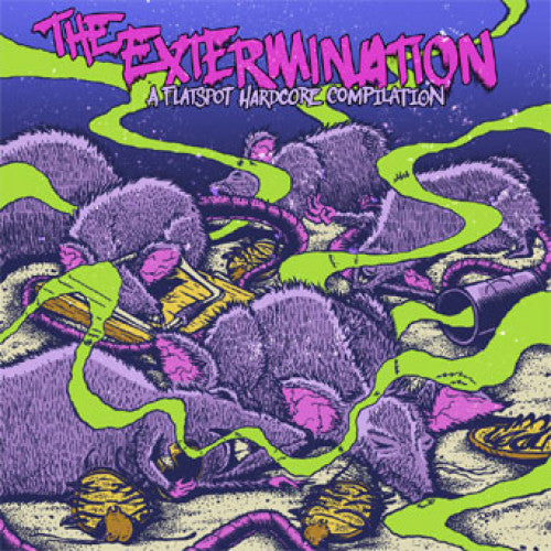 "FLSP07-1 V/A ""The Extermination"" 7"" Album Artwork"