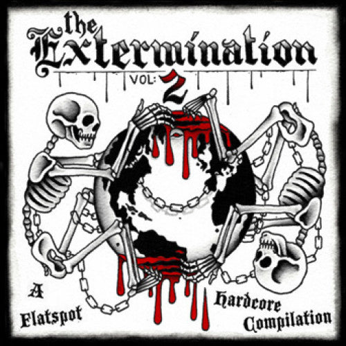 "FLSP12-4 V/A ""The Extermination Vol: 2"" CASSETTE Album Artwork"