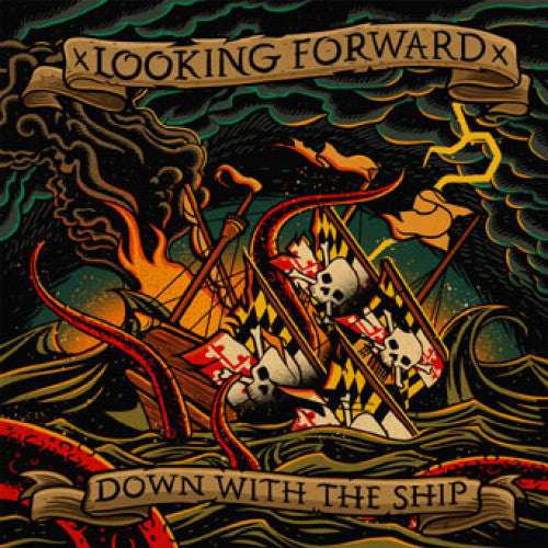 "FR116-2 Looking Forward ""Down With The Ship"" CD Album Artwork"