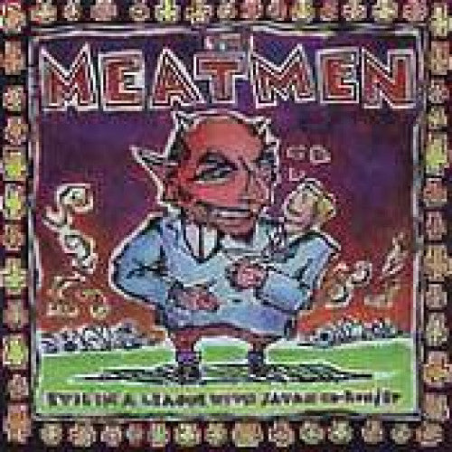 "GK028-2 The Meatmen ""Evil In A League With Satan"" CD Album Artwork"