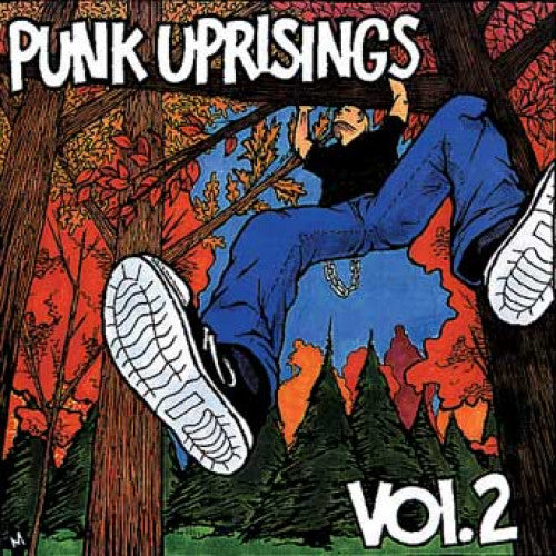"GK034-2 V/A ""Punk Uprisings Vol. 2"" CD Album Artwork"