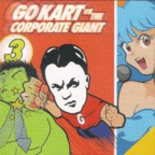 "GK085-2 V/A ""Go Kart Vs. The Corporate Giant 3"" CD Album Artwork"