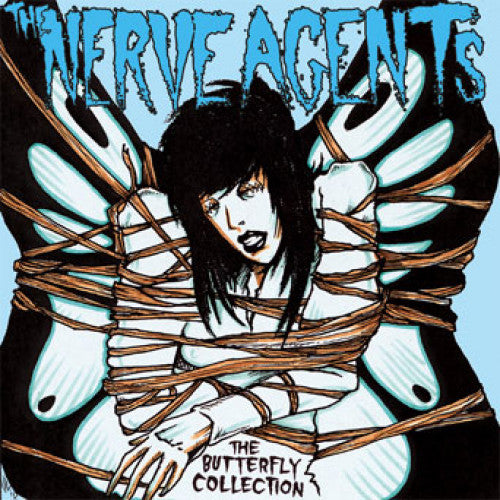 "HELLC443-1 The Nerve Agents ""The Butterfly Collection"" LP Album Artwork"