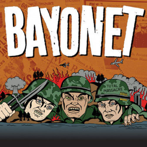 "IND114-1 Bayonet ""Total Massacre"" 7"" Album Artwork"
