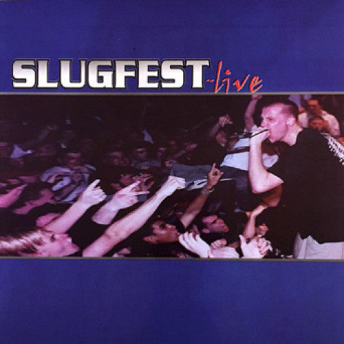 "INIT04-1 Slugfest ""Live"" 7"" Album Artwork"
