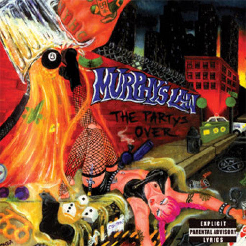 "ISCR769-1 Murphy's Law ""The Party's Over"" LP Album Artwork"