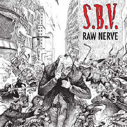 "MKD08-2 S.B.V. ""Raw Nerve"" CD Album Artwork"