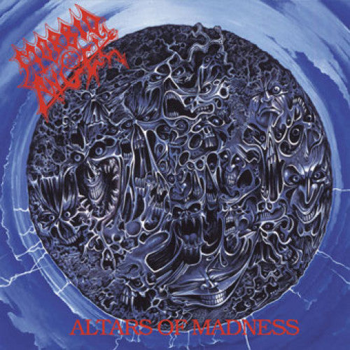 "MOSH011-1 Morbid Angel ""Altars Of Madness"" LP Album Artwork"