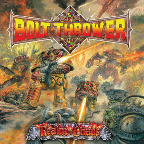 "MOSH013-1 Bolt Thrower ""Realm Of Chaos"" LP Album Artwork"