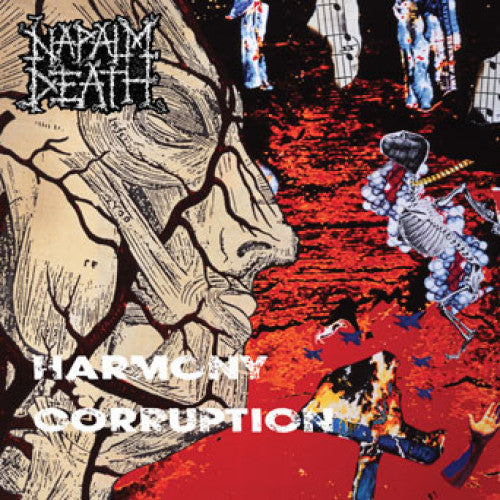 "MOSH019-1 Napalm Death ""Harmony Corruption"" LP Album Artwork"