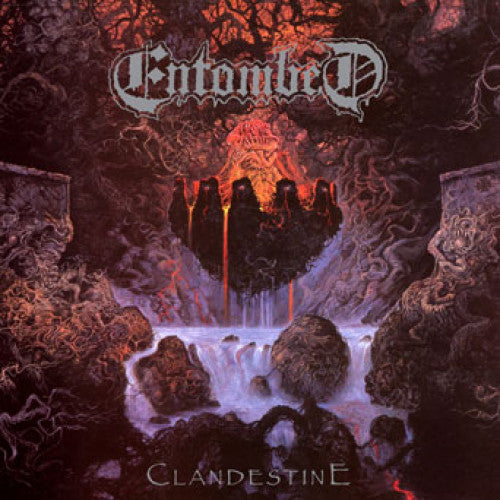 "MOSH037-1 Entombed ""Clandestine"" LP Album Artwork"