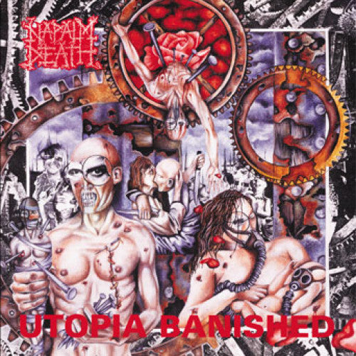 "MOSH053-1 Napalm Death ""Utopia Banished"" LP Album Artwork"