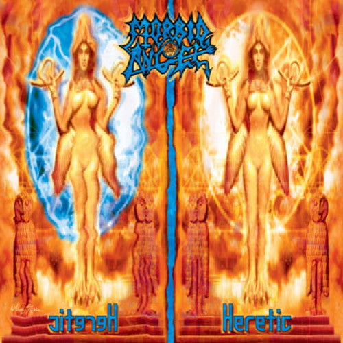 "MOSH272-1 Morbid Angel ""Heretic"" LP Album Artwork"