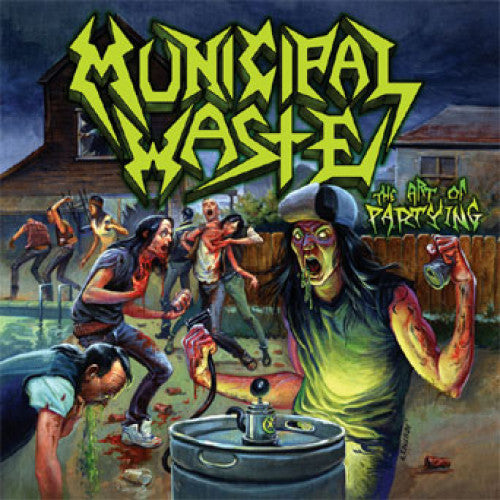 "MOSH331-1 Municipal Waste ""The Art Of Partying"" LP Album Artwork"