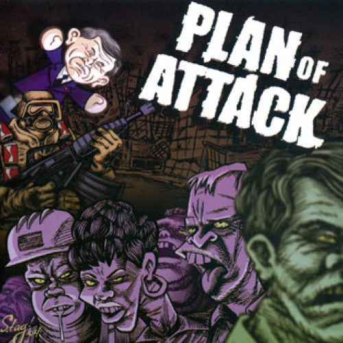 "OCR009-2 Plan Of Attack ""The Working Dead"" CD Album Artwork"