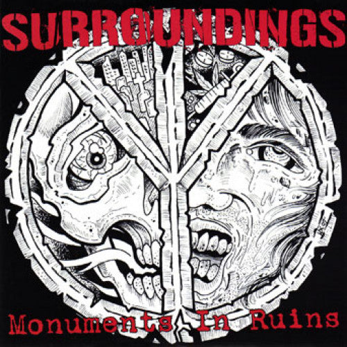 "OCR027-1 Surroundings ""Monuments In Ruins"" 7"" Album Artwork"