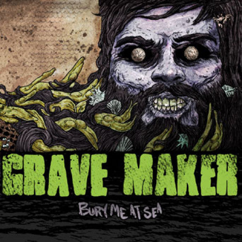"OCR034-1 Grave Maker ""Bury Me At Sea"" LP Album Artwork"