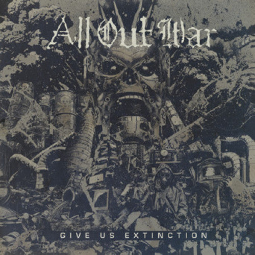 "OCR069A-1 All Out War ""Give Us Extinction"" LP/CD Album Artwork"