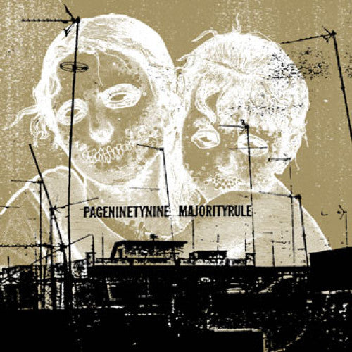 "OPS008-1 Majority Rule / Pageninetynine ""Split"" LP Album Artwork"