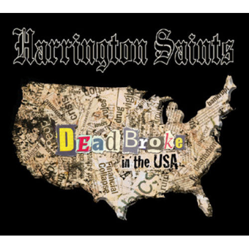 "PIR011-2 Harrington Saints ""Dead Broke In The USA"" CD Album Artwork"
