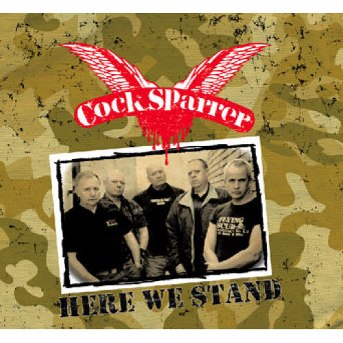 "PIR023-1/2 Cock Sparrer ""Here We Stand"" LP/CD Album Artwork"