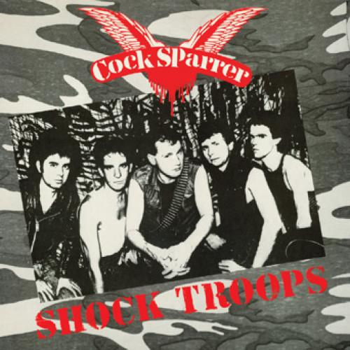 "PIR027-4 Cock Sparrer ""Shock Troops"" CASSETTE Album Artwork"