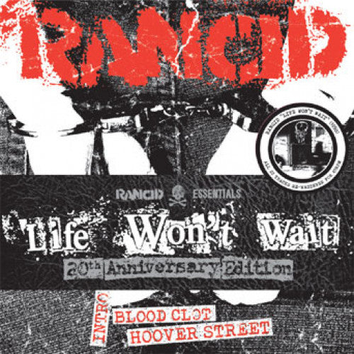 "PIR064-1 Rancid ""Life Won't Wait: 20th Anniversary Edition"" 7""  Pack 6x7"" Album Artwork"