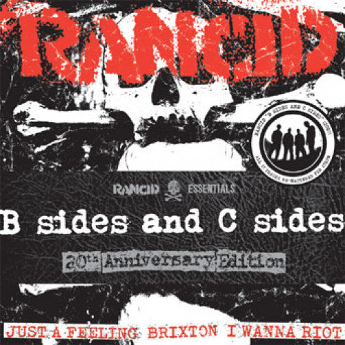 "PIR067-1 Rancid ""B Sides And C Sides: 20th Anniversary Edition"" 7"" Pack 7x7"" Album Artwork"