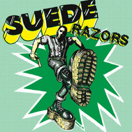 "PIR132-1 Suede Razors ""Boys Night Out b/w (I'm A) Bovver Boy"" 7"" Album Artwork"