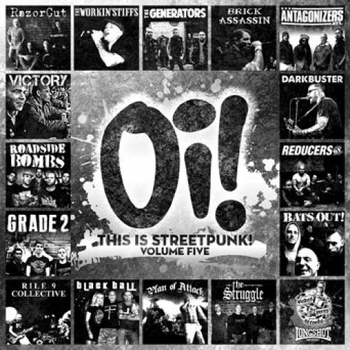 "PIR142-1 V/A ""Oi! This Is Streetpunk! Volume Five"" LP Album Artwork"