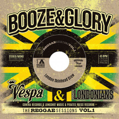 "PIR196/A-1 Booze & Glory ""The Reggae Sessions Vol.1"" 3 x 7"" Album Artwork"