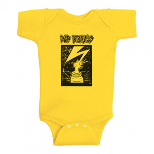 "PIR1Z19018M Dad Brains ""Logo"" -  Baby Onesie"