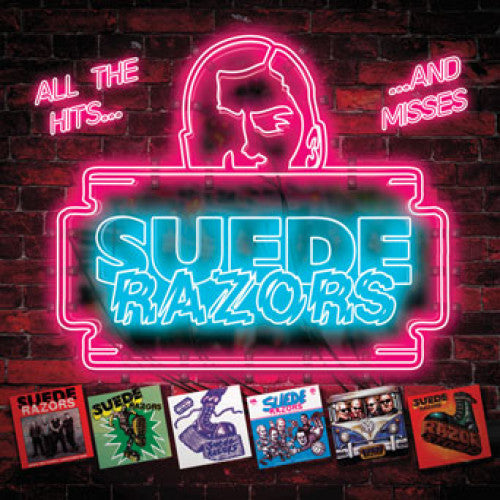 "PIR213-2 Suede Razors ""All The Hits... ...And Misses"" CD Album Artwork"