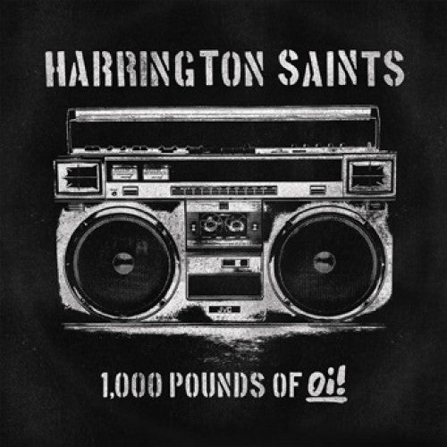 "PIR233-2 Harrington Saints ""1,000 Pounds Of Oi!"" CD Album Artwork"